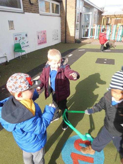 Evil pea up to his tricks,tangling up the children
