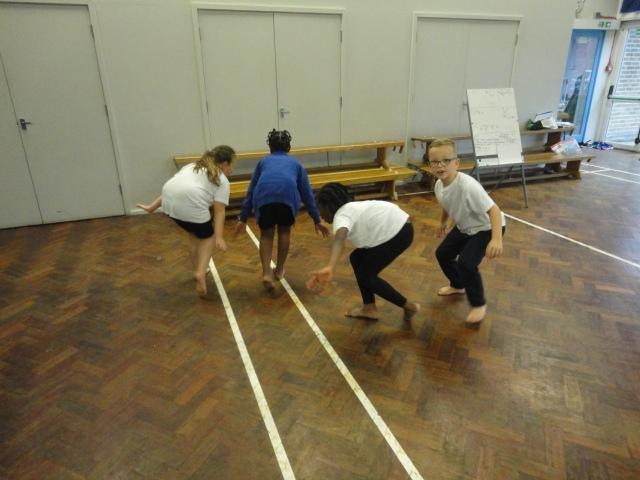 Dancing using low movements.