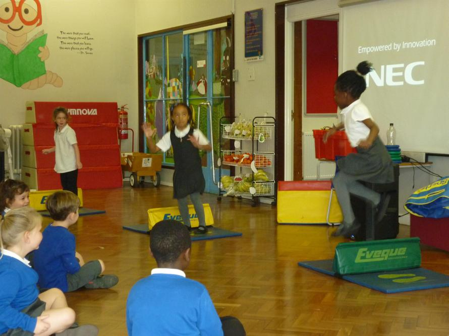 Year 1 jumping competition.