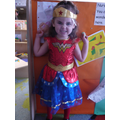 'I am Mylie superhero, i have fire powers,i can run and fly'