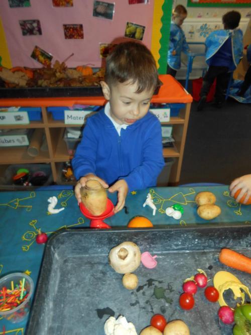 Matis making 'Mr Potato'