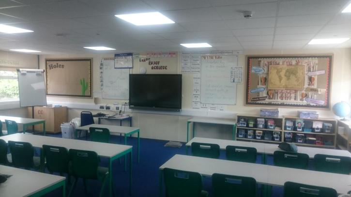 The classroom is being prepared for September...
