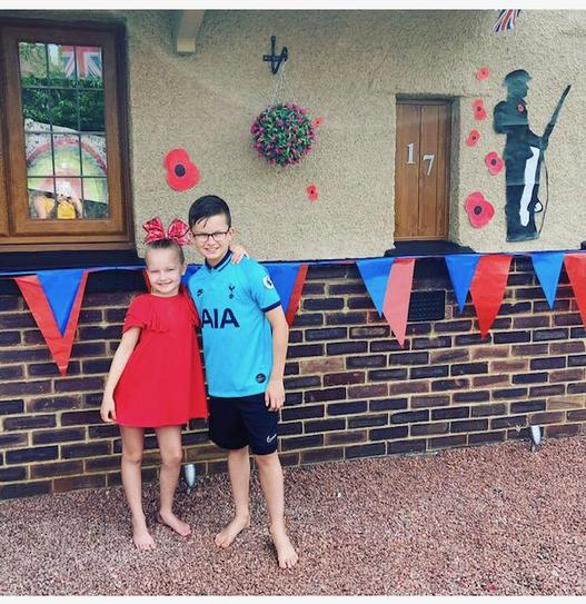 VE Day decorations