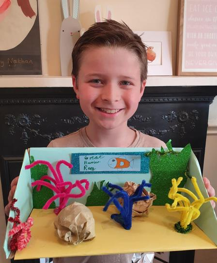 NB with his Great Barrier Reef. 4VB