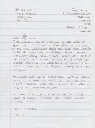 4HP ME Persuasive Letter