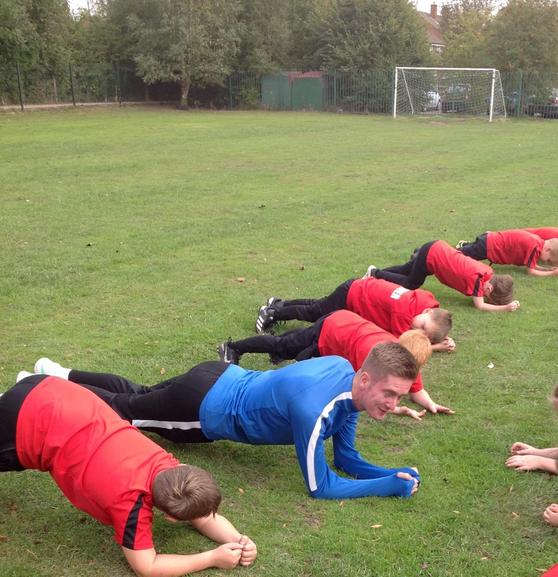 Mr Dale and Cotswold taking part in the Virtual Schools Plank Challenge