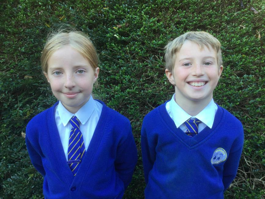Year 5 Reps Erin & Oliver
