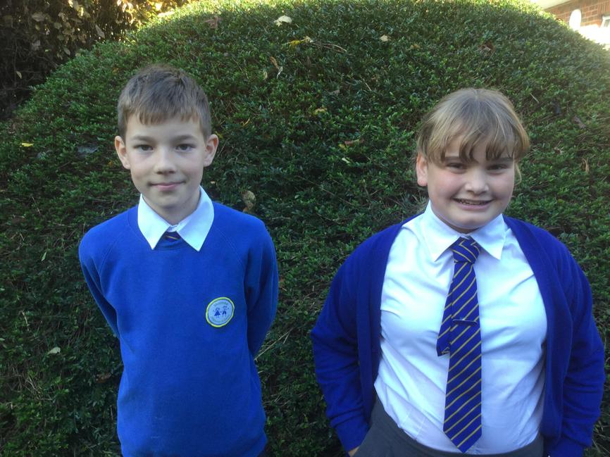 Year 6 Reps. Dylan & Lucy