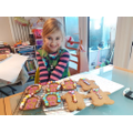 Lizzie's gingerbread men and houses