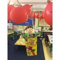 Elfie in his hot air balloon.