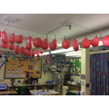 Our Advent calendar - we pop a balloon each day!