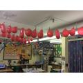 Our Advent calendar - we pop a balloon each day!