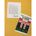 Inside we found a letter from Santa!