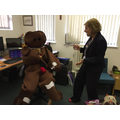 He surprised Mrs Taggart in her office