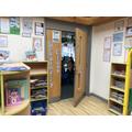 Hedgehog class entrance to classroom