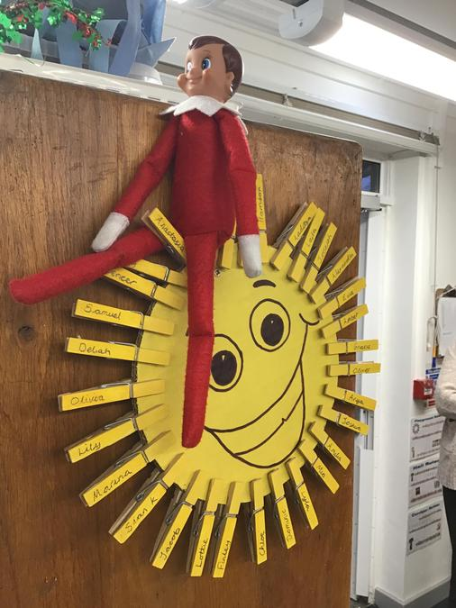 The elf is on the sun.