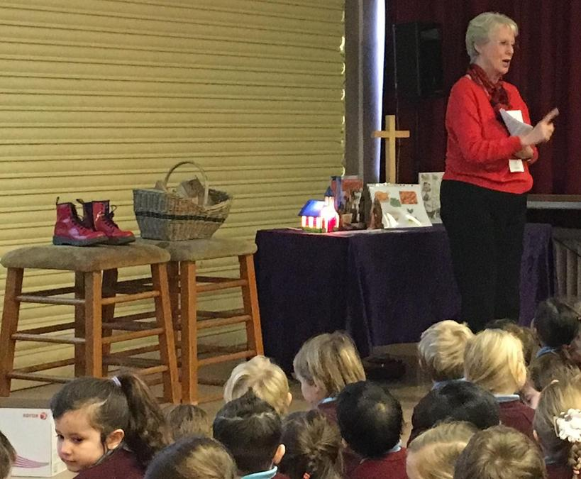 Mrs Jones sharing the Papa Panov's Christmas