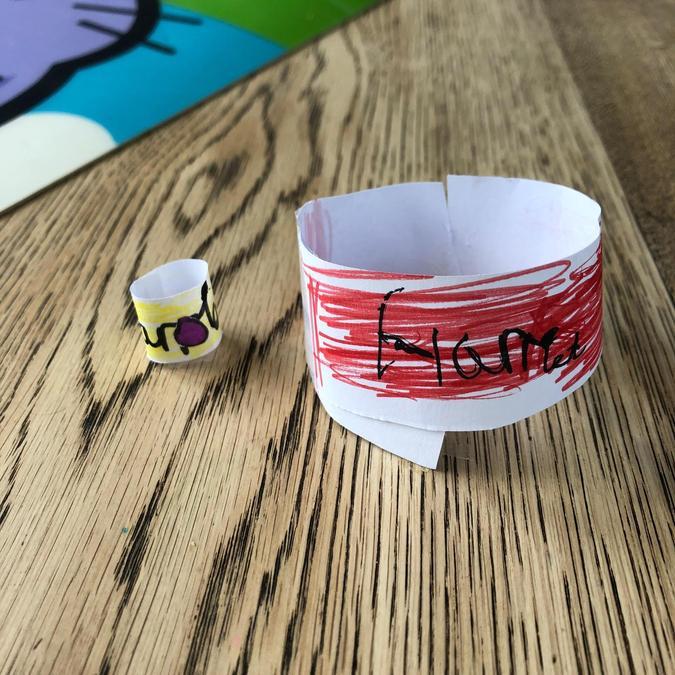 Friendship bracelet and ring.