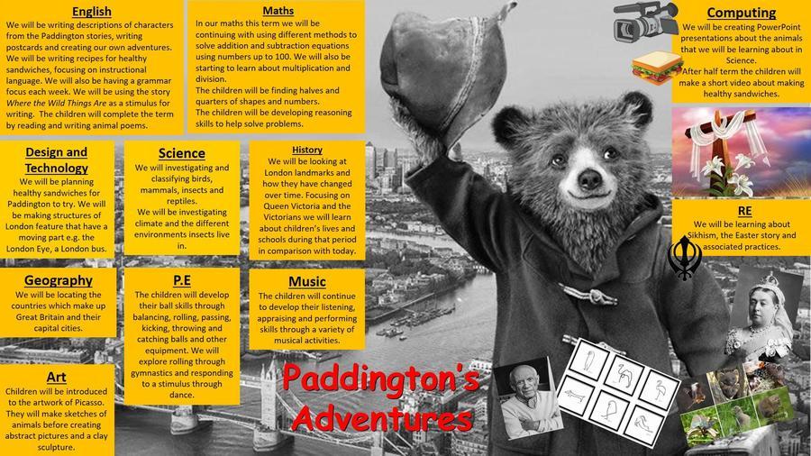 Year 1 Paddington's Adventures