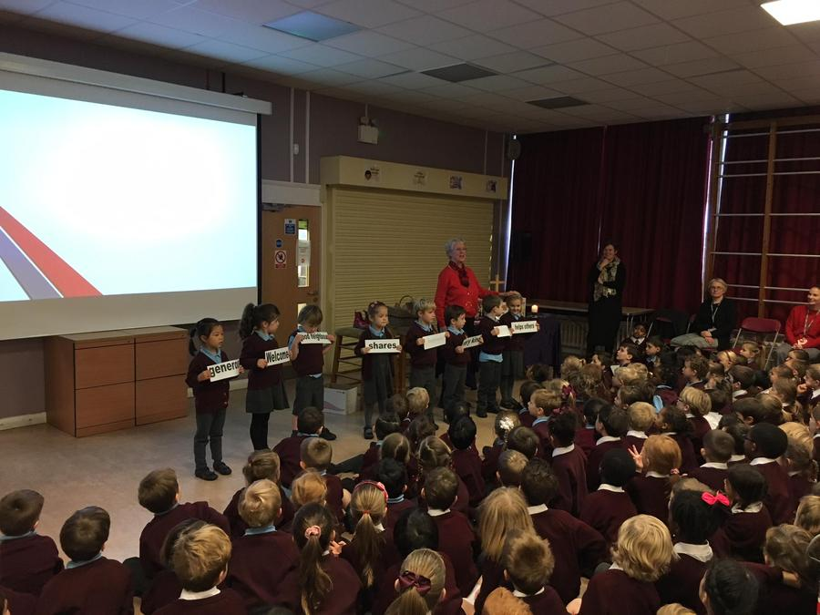 Pupils finding values in Papa Panov's Christmas