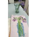 Zane painted some beautiful bluebells