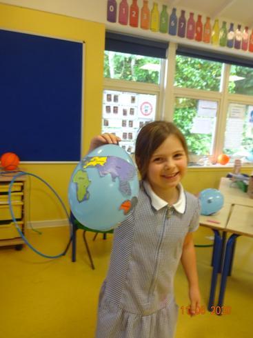 Sienna's balloon globe