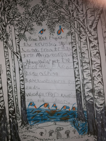 Dexter's forest poem