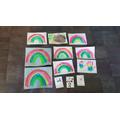 Beautiful rainbow paintings!