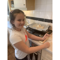 Sonia making her Salt Dough