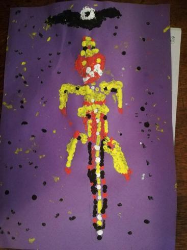 Dexter's aboriginal dot painting