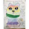 "Lizzie's amazing ""Rainbow robot dog""!"