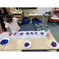 5 times table hand printing