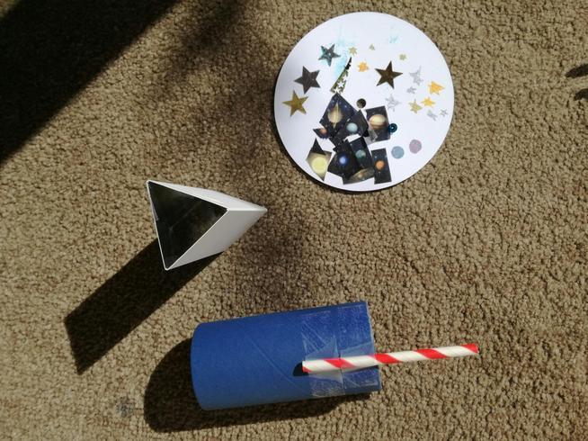 Scarlett made a kaleidoscope