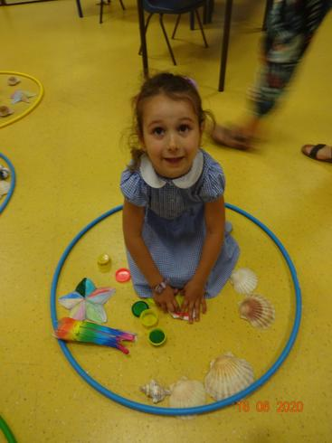 Anabella using her imagination in her play