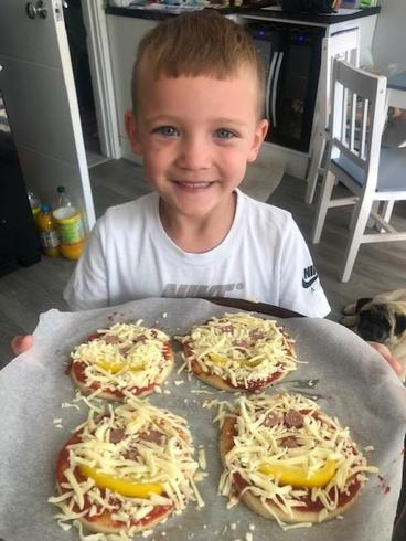 Jack's delicious homemade pizza!