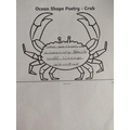 Daisy D's Crab Poem with great alliteration