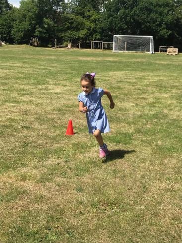 Anabella running 20 laps