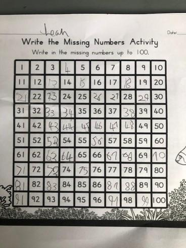 Leah finding missing numbers
