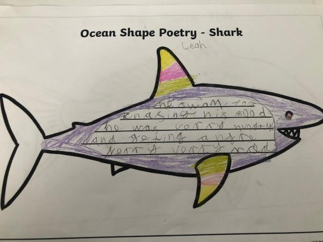 Leah's ocean shape poem