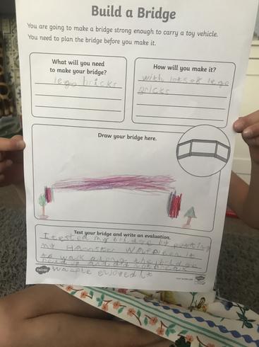 Evalyn's build a bridge design