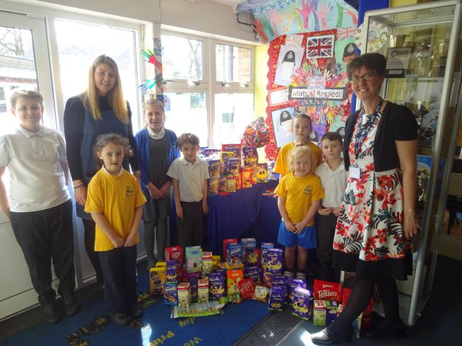 96 Easter Eggs collected for Borehamwood Foodbank