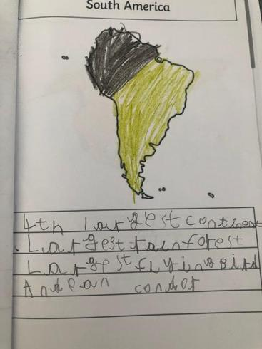 Jack writing about South America