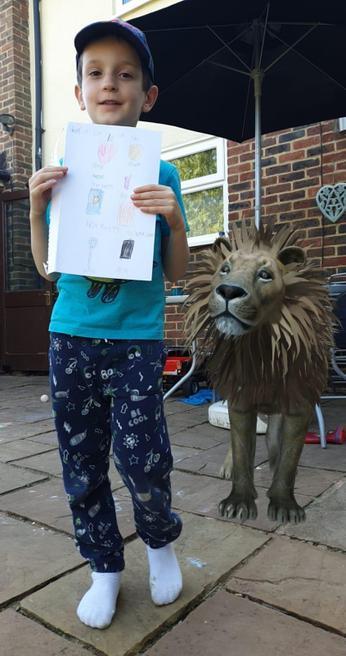 Richard's lion who came to tea