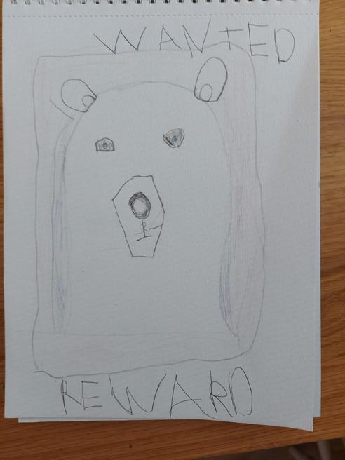 Maia's polar bear wanted picture