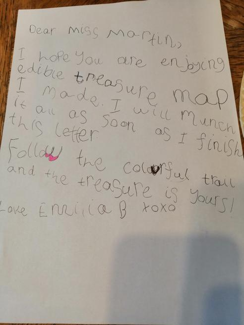 Emilia's information about her treasure map