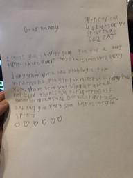 Spencer's letter to his nanny