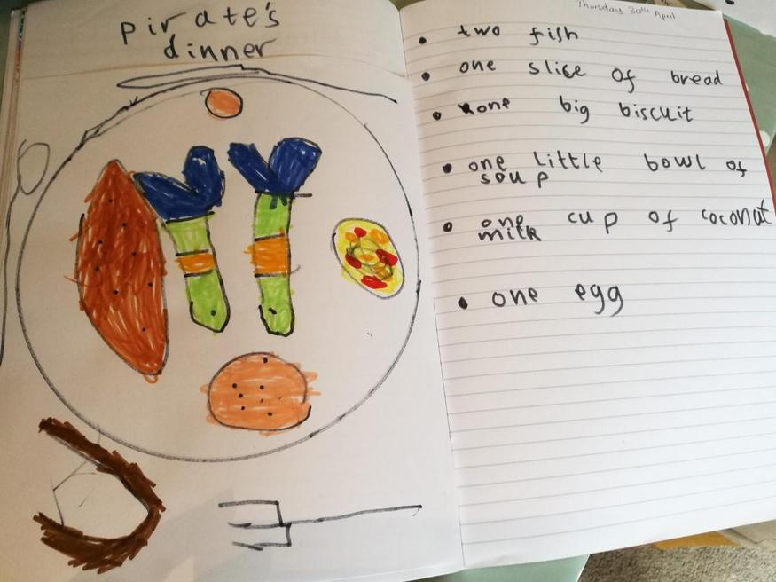 Ethan's pirate dinner