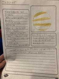 Spencer C learning about the planets