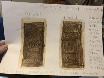 Spencer's chocolate spread sandwich