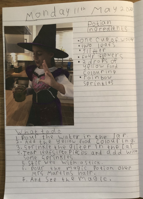 Reciepe on how to make the potion